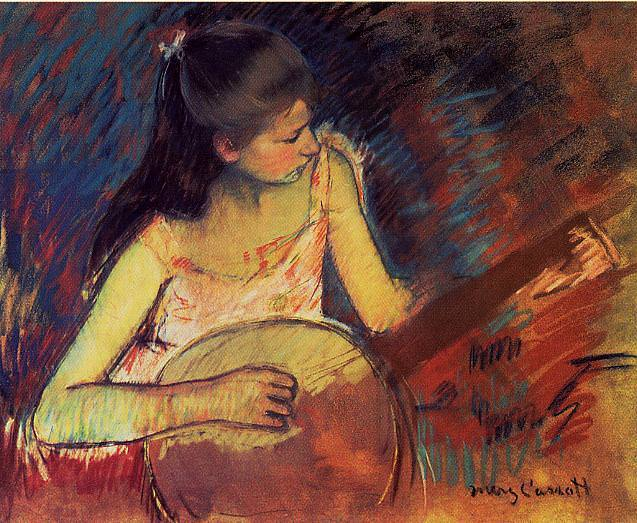 Girl with a Banjo. Mary Cassatt