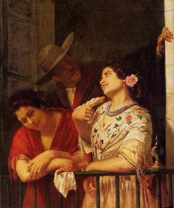 The Flirtation A Balcony in Seville. Mary Cassatt
