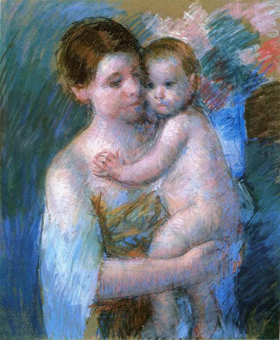 Mother Holding Her Baby. Mary Cassatt