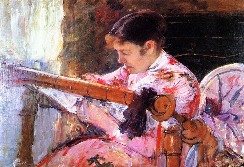 Lydia at the Tapestry Loom. Mary Cassatt