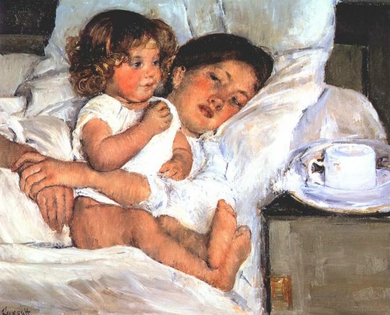 Завтрак в постели, ок. 1897. Мэри Кассат