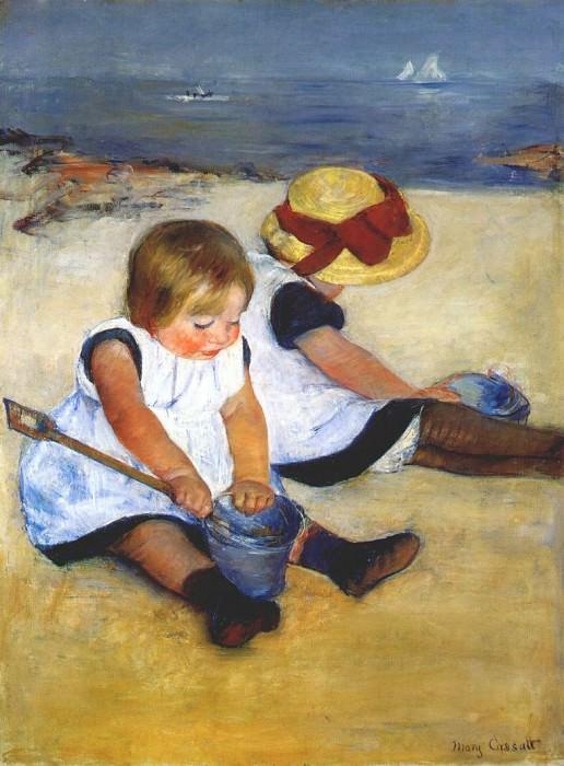 children by the shore 1885. Mary Cassatt