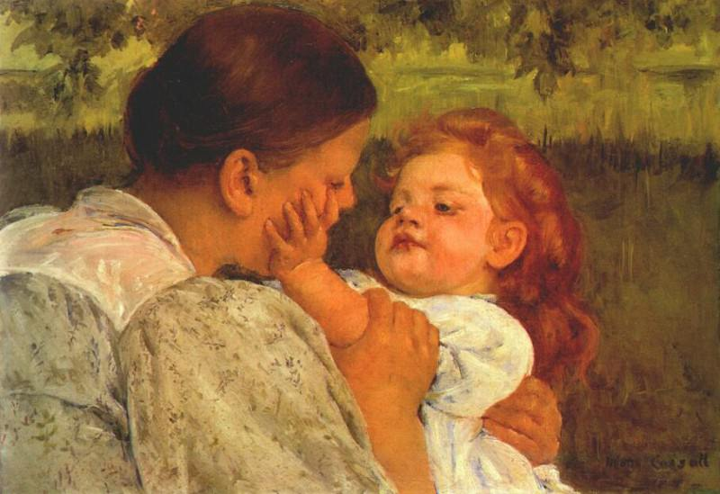 maternal caress 1896. Mary Cassatt