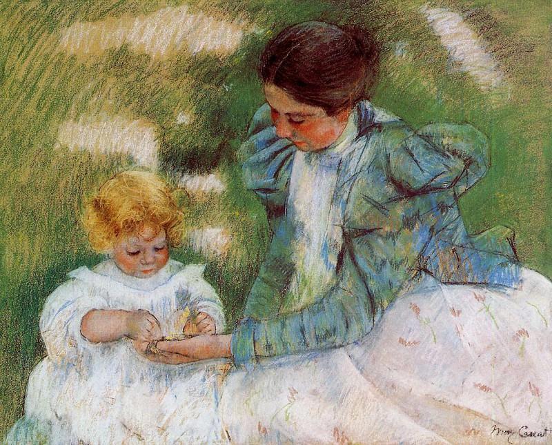 Мать, играющая со своим ребенком. Мэри Кассат
