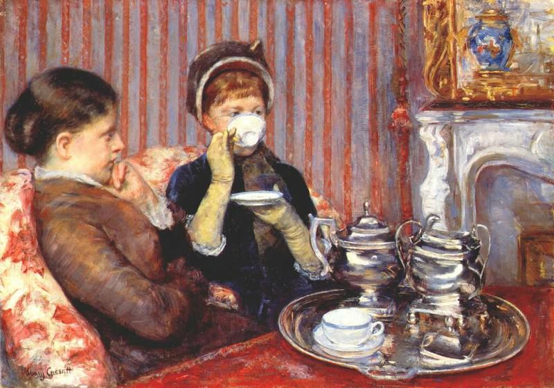 tea c1880. Mary Cassatt