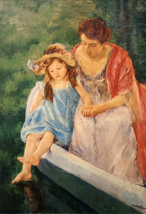 Mother And Child In A Boat. Mary Cassatt