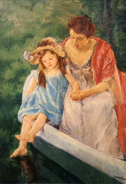 Мать и дитя в лодке. Мэри Кассат
