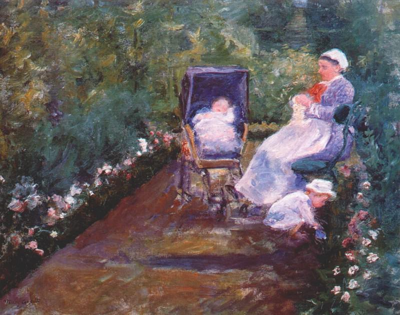 children in a garden (the nurse) 1878. Mary Cassatt