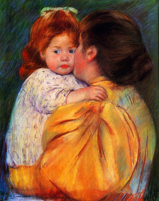 Maternal Kiss. Mary Cassatt