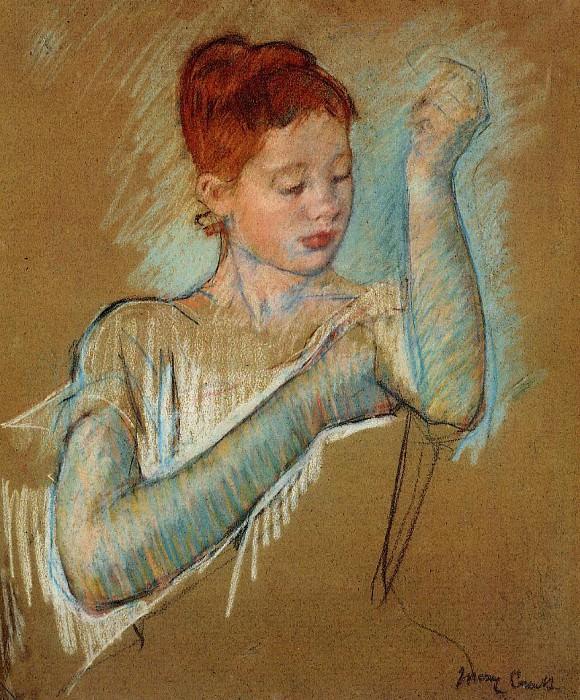 The Long Gloves. Mary Cassatt