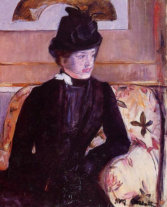 Mrs. Gardner Cassatt in Black. Mary Cassatt