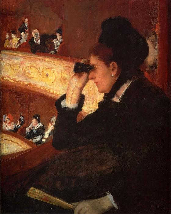 At The Opera. Mary Cassatt