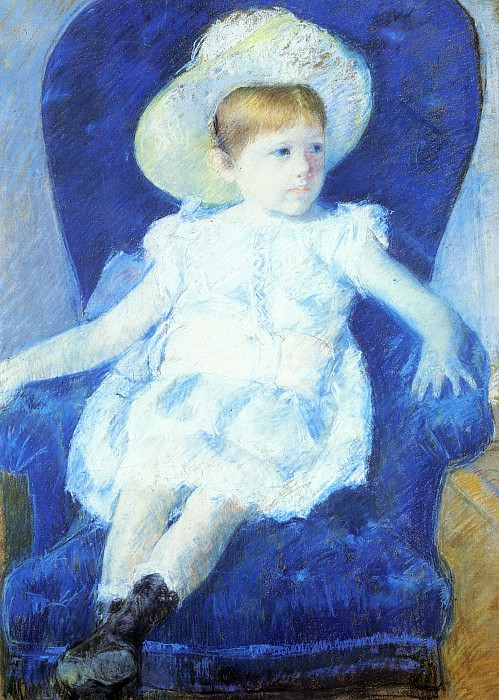 Elsie in a Blue Chair. Мэри Кассат