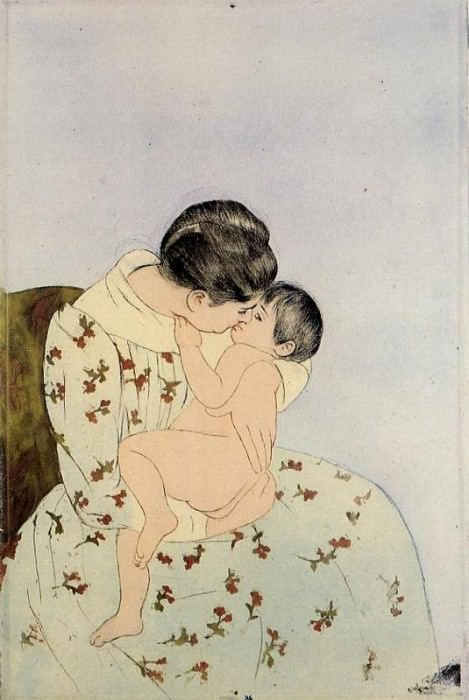The Kiss. Mary Cassatt
