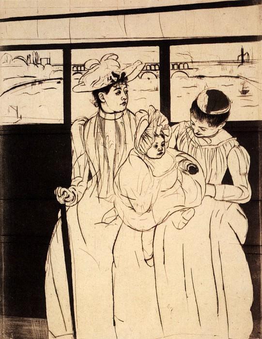 In The Omnibus. Mary Cassatt