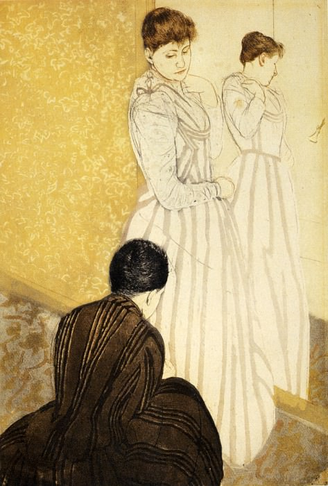 The Fitting. Mary Cassatt
