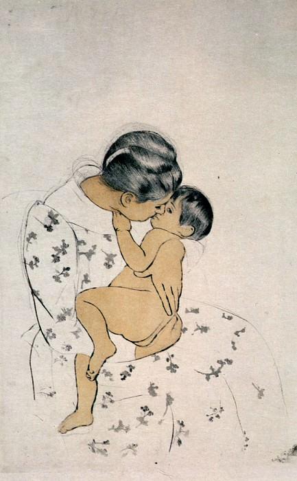 Mothers Kiss 1891. Mary Cassatt