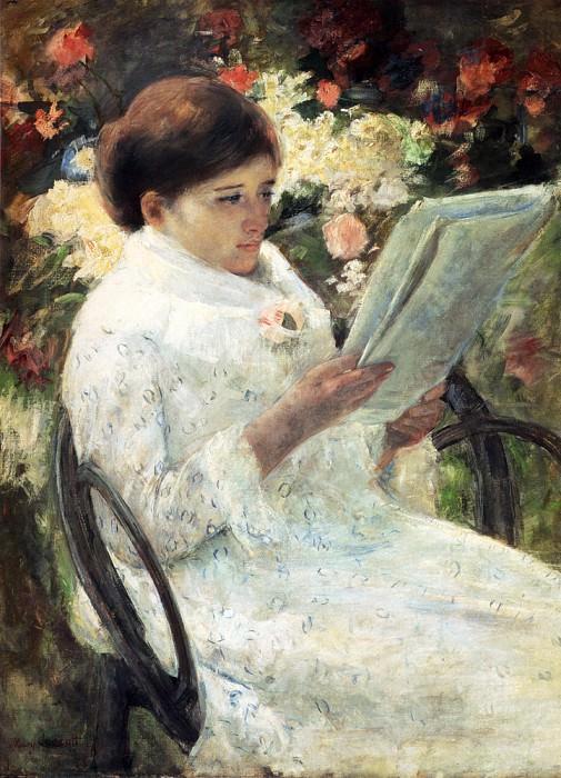 Woman Reading In A Garden. Mary Cassatt