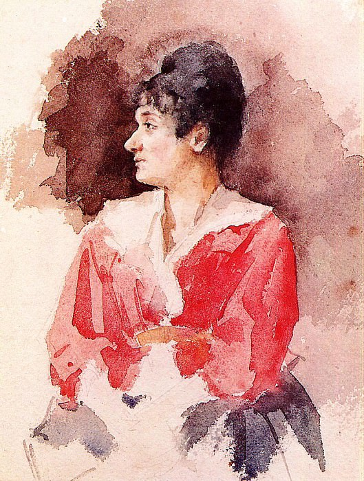 Profile of an Italian Woman. Mary Cassatt