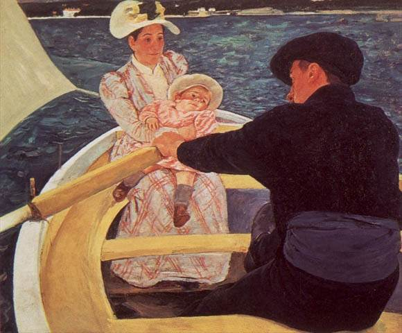 A RIDE IN A ROWING BOAT, 1894, OIL ON CANVAS. Mary Cassatt