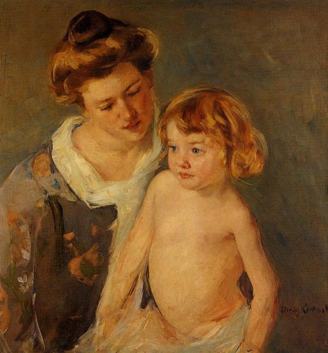 Jules Standing by His Mother. Mary Cassatt