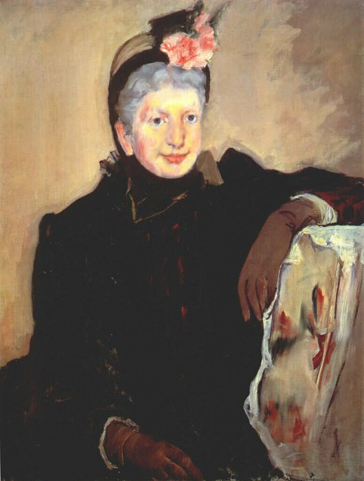portrait of an elderly lady 1883. Mary Cassatt