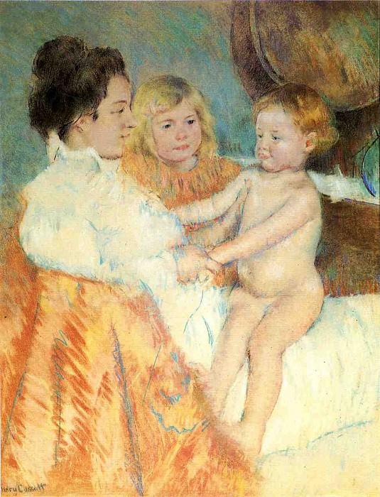 Mother Sara and the Baby counterproof. Mary Cassatt