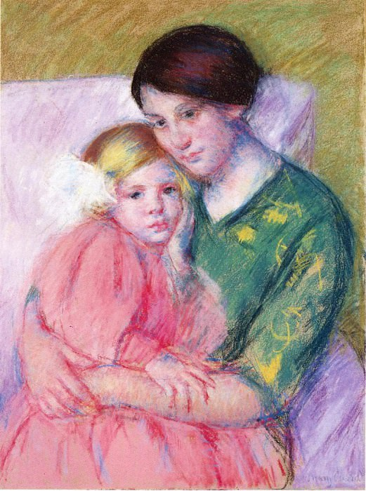 Mother and Child Reading. Mary Cassatt