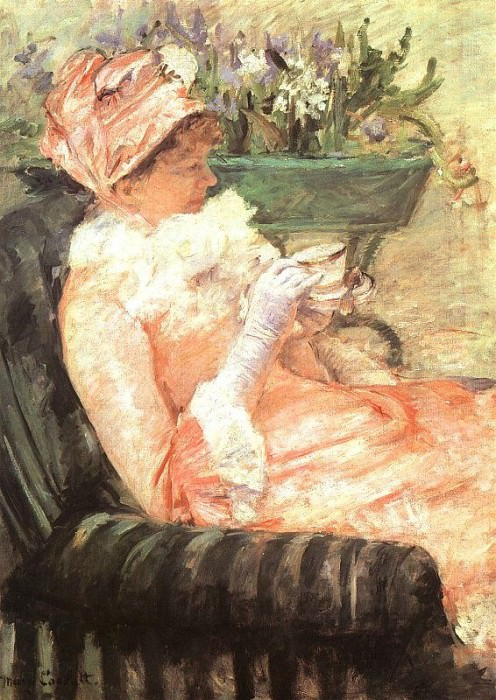 THE CUP OF TEA, 1879, OIL ON CANVAS. Mary Cassatt