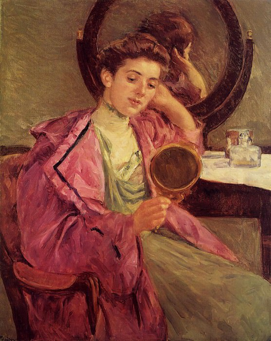 Woman at Her Toilette. Mary Cassatt