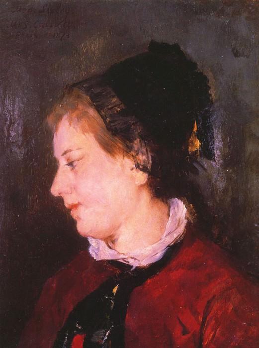 Portrait of Madame Sisley. Mary Cassatt