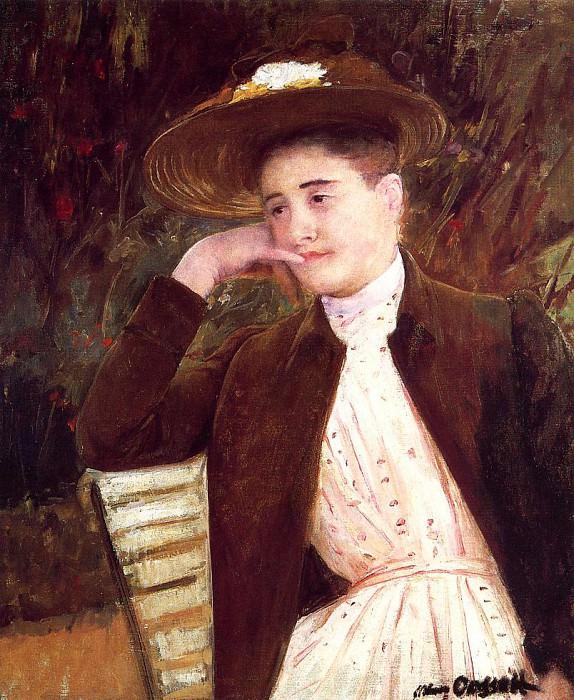 Celeste in a Brown Hat. Mary Cassatt