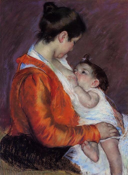 Louise Nursing Her Child. Mary Cassatt