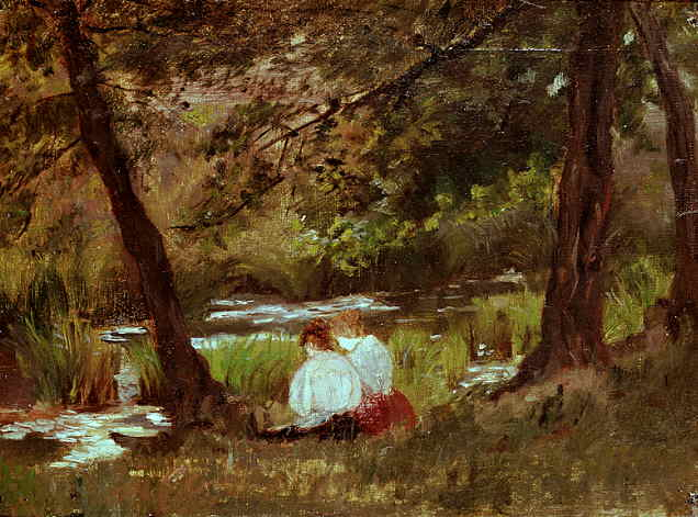 woodland-stream. Mary Cassatt