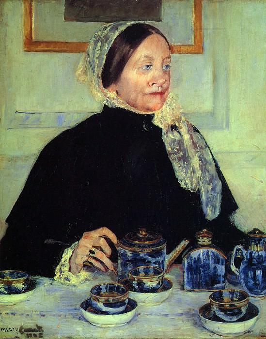 Дама за чайным столом. Мэри Кассат