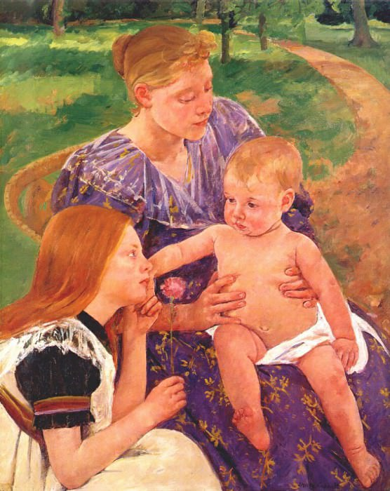the family 1893. Mary Cassatt