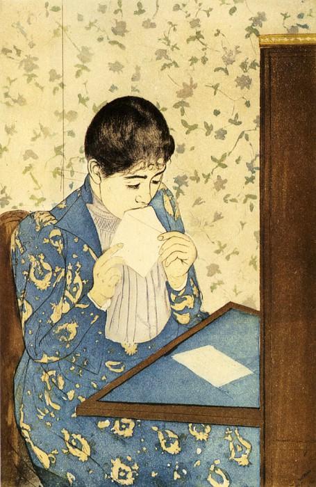 The Letter. Mary Cassatt