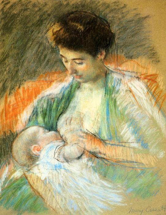 Mother Rose Nursing Her Child. Mary Cassatt