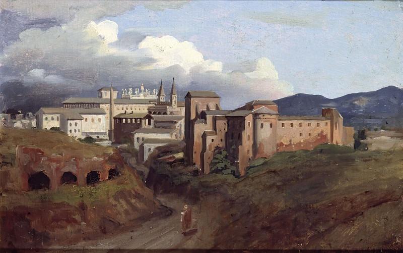 View of St. John Lateran, Rome. Joseph-Désiré Court