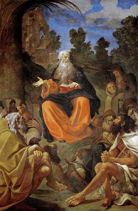 Святой Антоний Великий, проповедующий отшельникам. Лодовико Карраччи