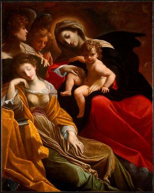 Мечта Св.Катерины Александрийской. Лодовико Карраччи