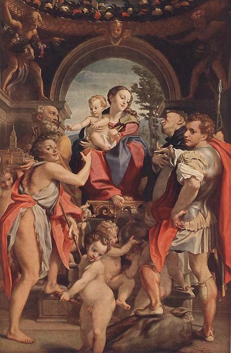 Madonna With St George. Correggio (Antonio Allegri)