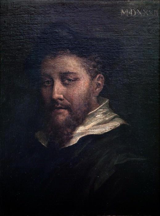 Portrait presumed to be of the artist. Correggio (Antonio Allegri)