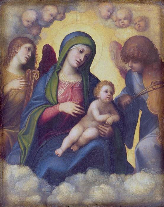 Madonna and Child and child in Glory. Correggio (Antonio Allegri)
