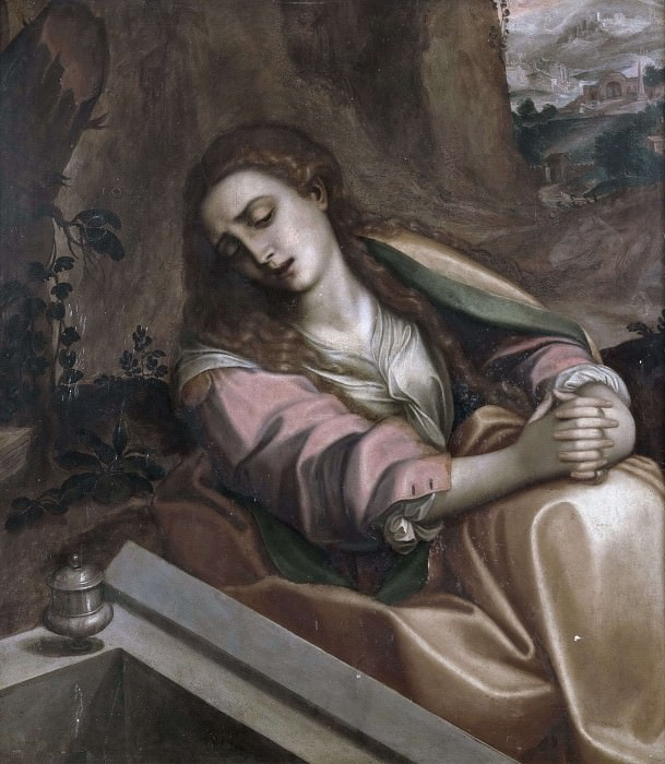 The Magdalen at the Tomb of Christ. Correggio (Antonio Allegri) (After)