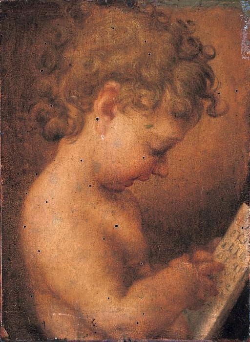 Little Putto Praying or Young Boy Reading. Correggio (Antonio Allegri)