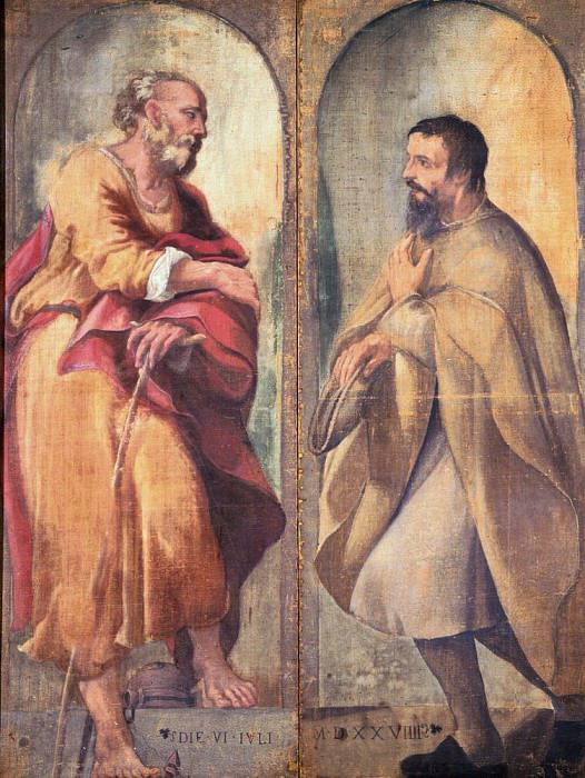 Праведный Иосиф и даритель. Корреджо (Антонио Аллегри)