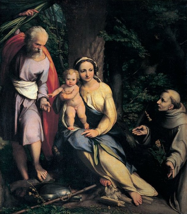 Rest on the Flight into Egypt. Correggio (Antonio Allegri)