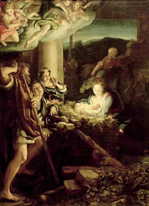 Nativity Scene. Correggio (Antonio Allegri)