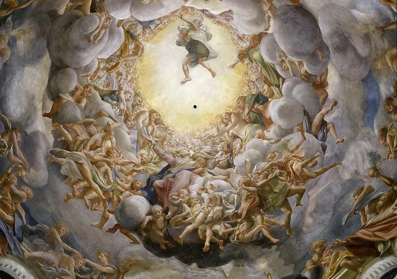Assumption of the Virgin, ceiling of the dome. Correggio (Antonio Allegri)